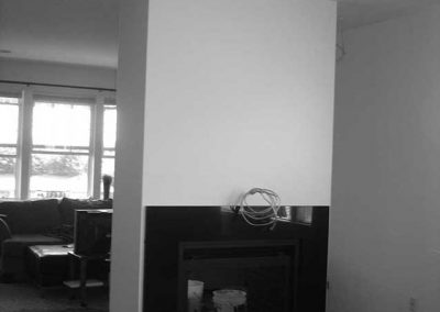 Fireplace during renovation