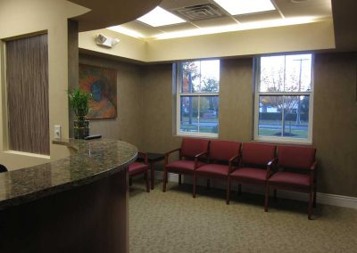 Receptiom Desk and Waiting Area
